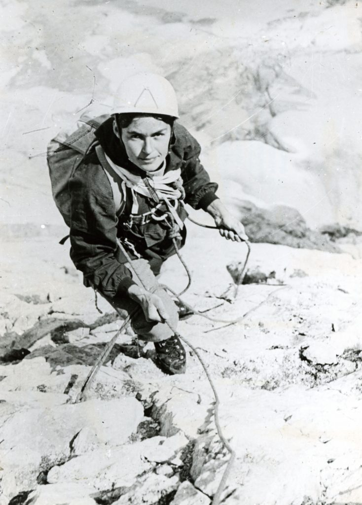 Wanda Rutkiewicz, wspinaczka na Grand Vignemale, Pireneje, 1969 r. *** Local Caption *** Reprodukcje negatywów i slajdów (19443/1-11) udostępnione przez Wandę Rutkiewicz w 1978 r..
